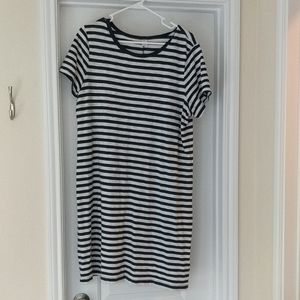 Spring/Summer Striped Casual knit Dress XL